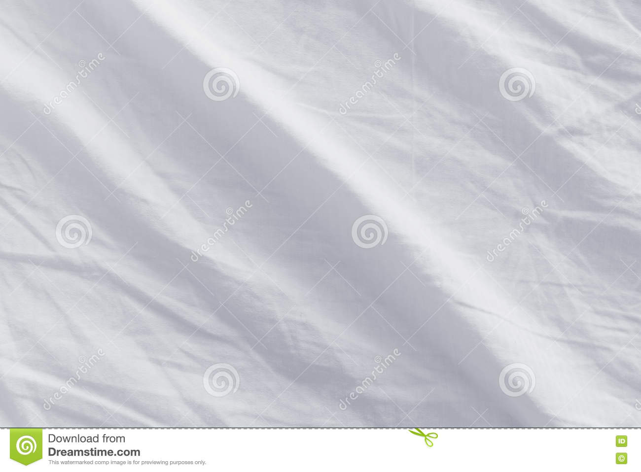 White bed sheets texture - Crumpled Bed Sheets Texture