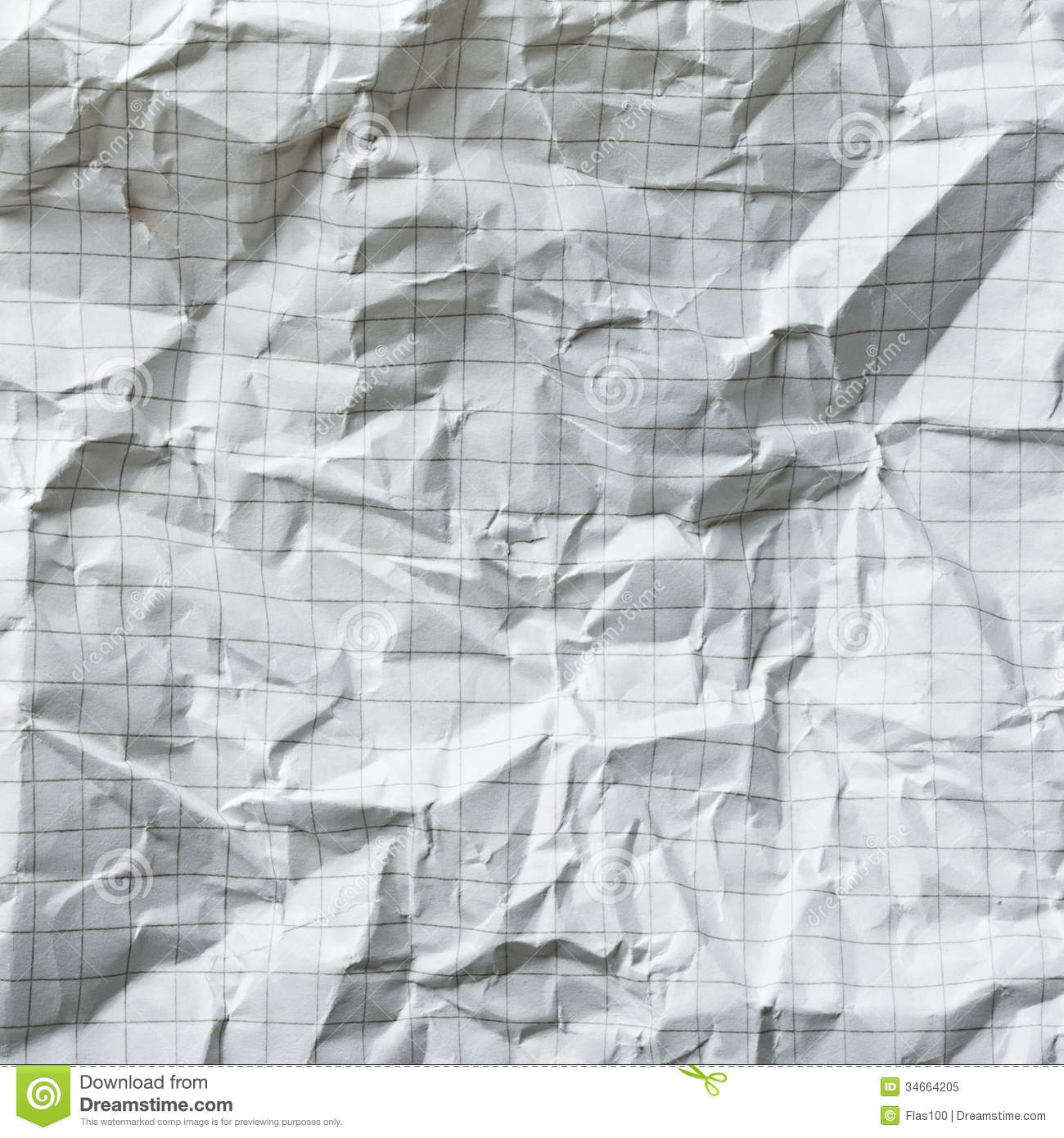 Crumpled Blank Math Paper Royalty Free Photo Image 34664205 – Math Grid Paper Template
