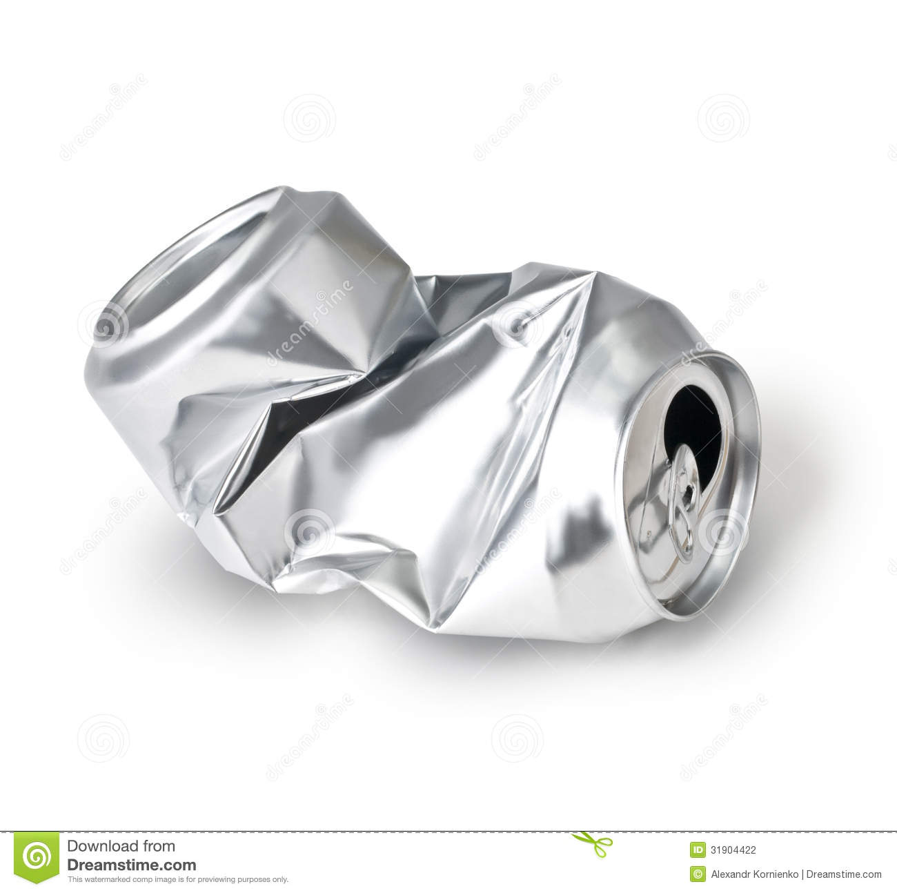 crumpled empty can stock photo image of freeze shiny 31904422