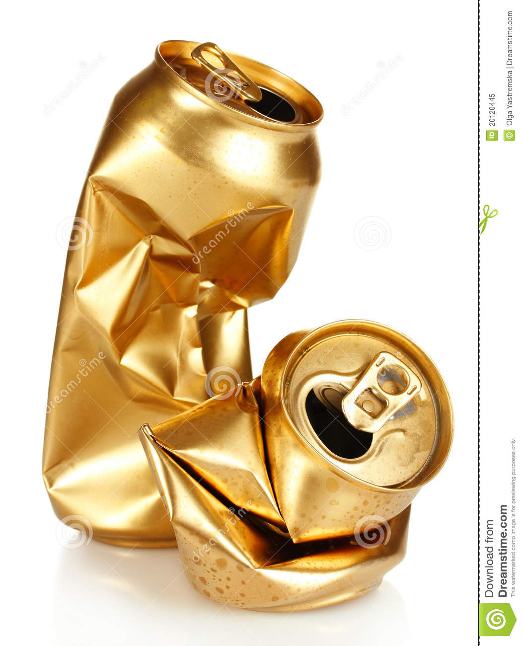 Crumpled Empty Tin Can Stock Image Image Of Rubbish