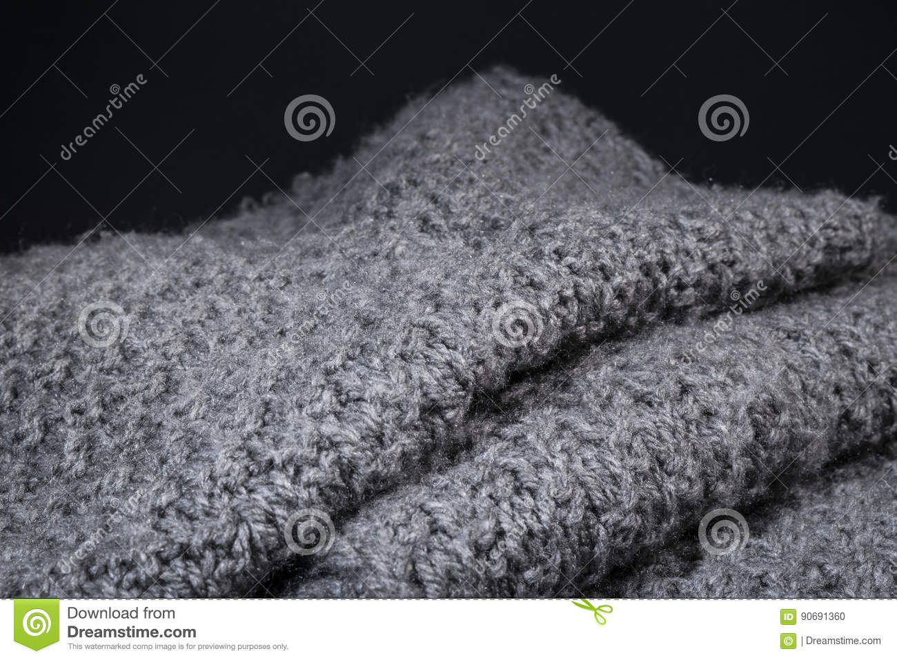 2f14b1199 Crumpled Gray Wool Fabric Texture Background. Stock Photo - Image of ...