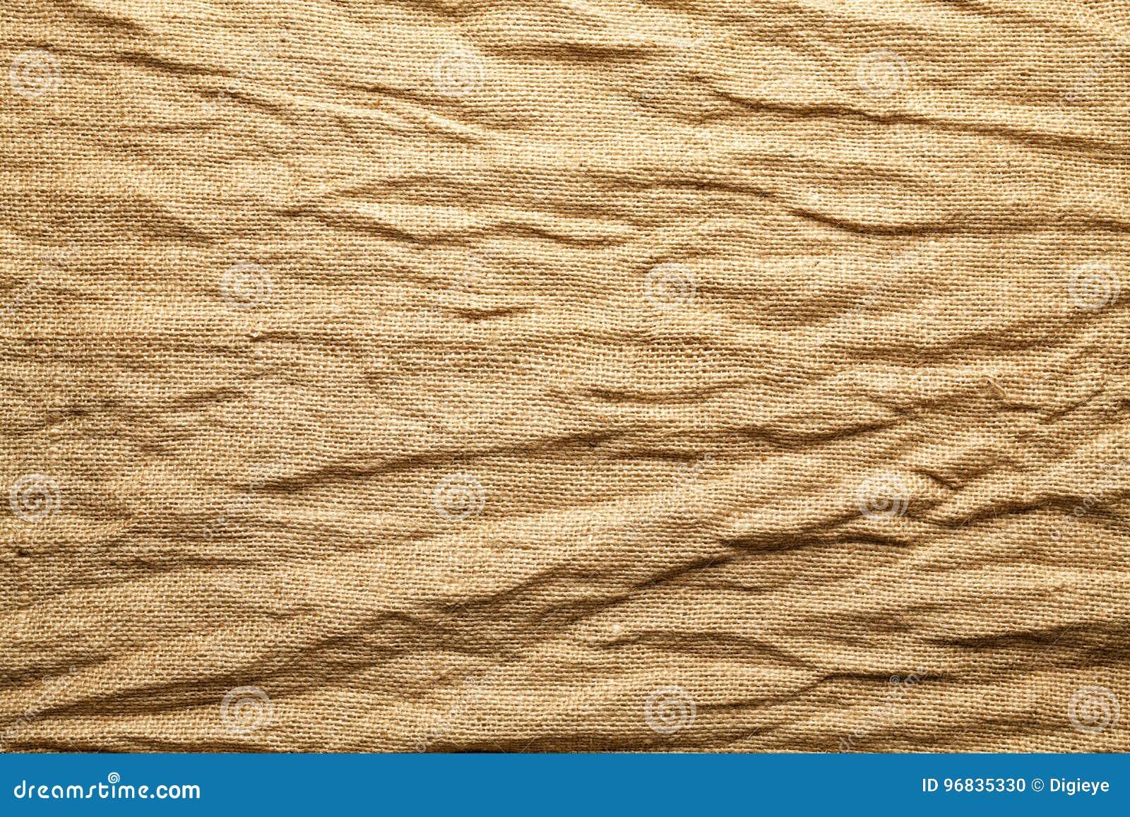Crumpled jute bag background
