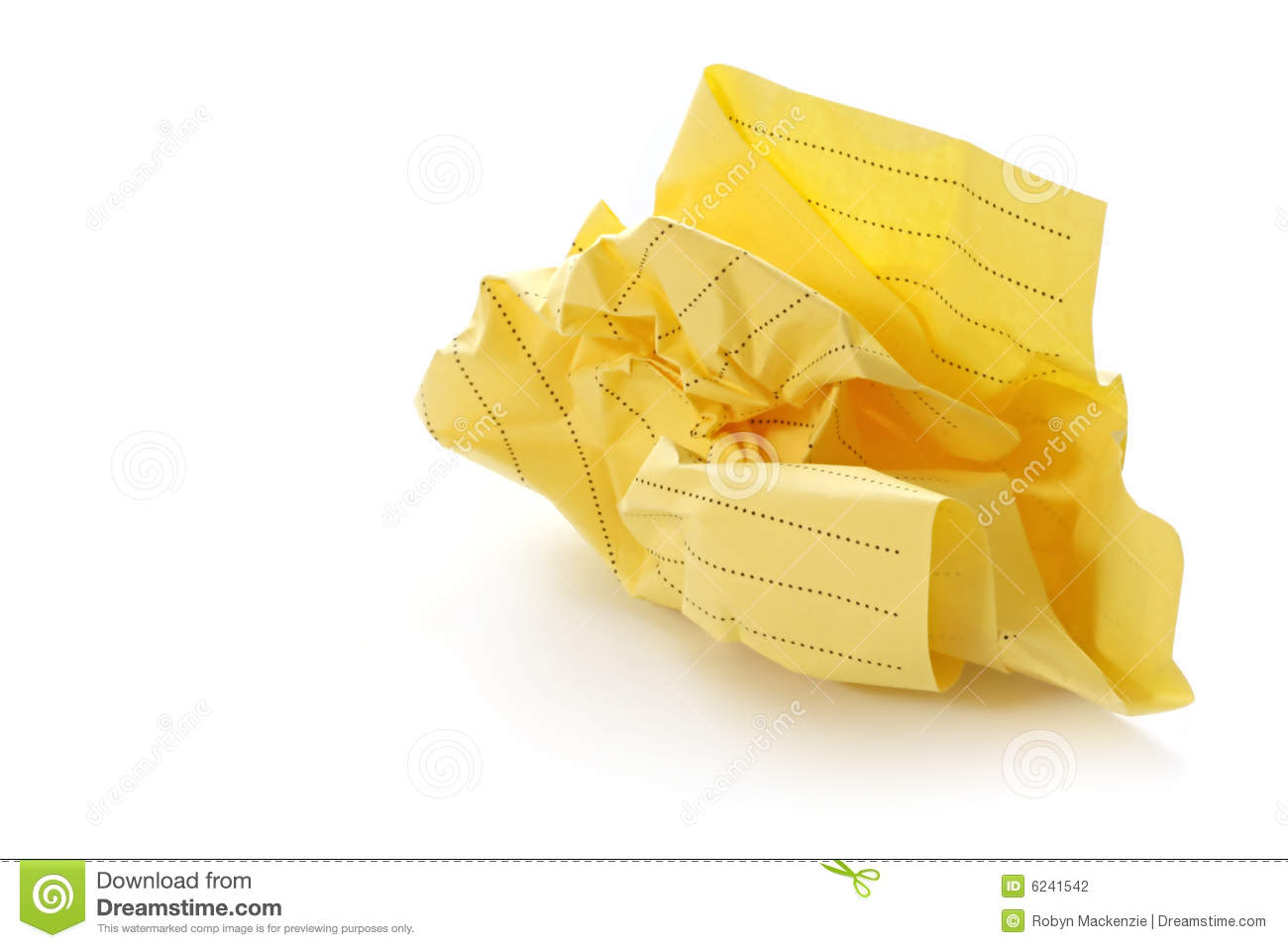 crumpled paper ball stock photo. image of crumpled, wastepaper - 6241542