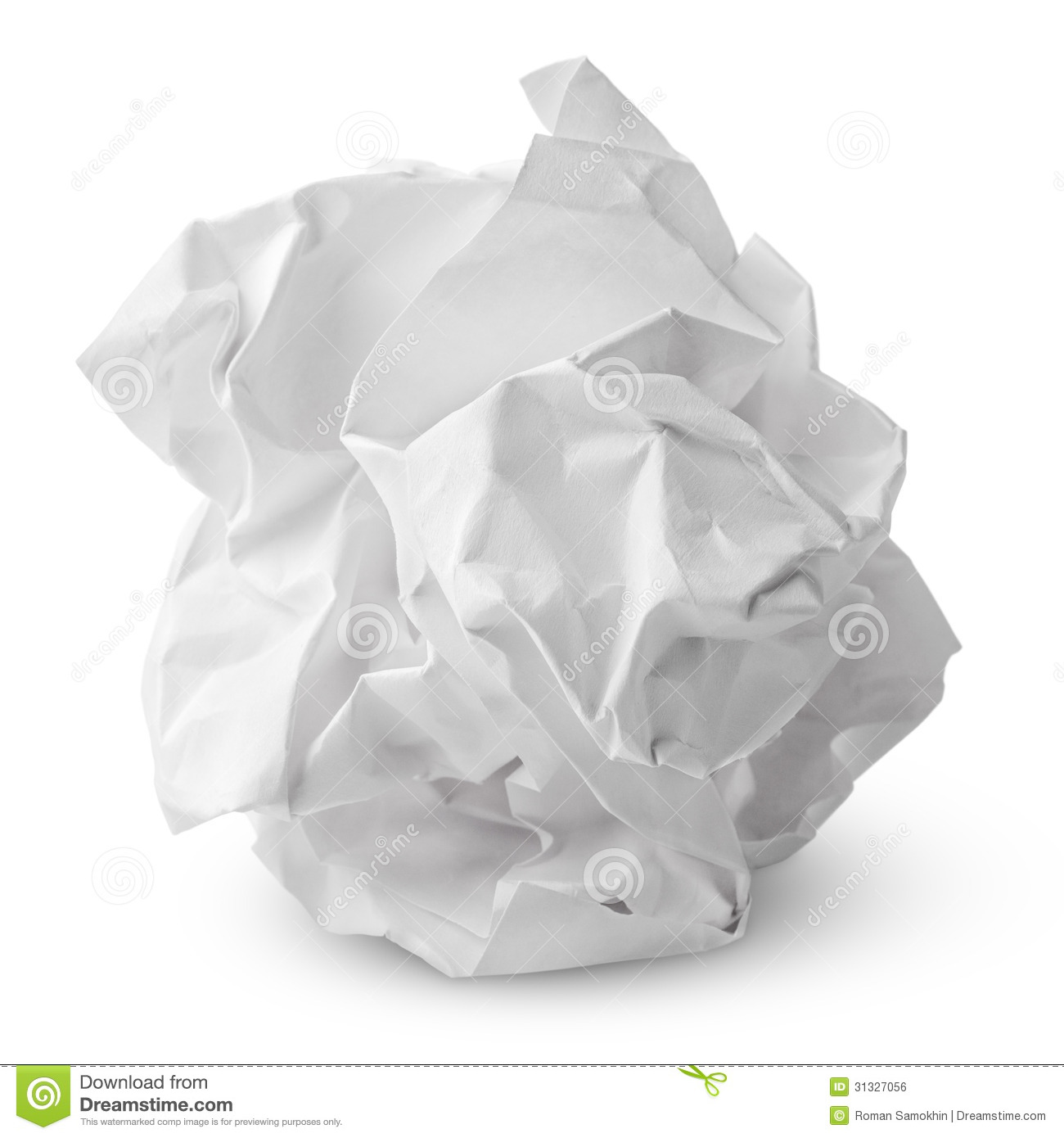 crumpled paper ball stock photo. image of crumpled, pressure - 31327056