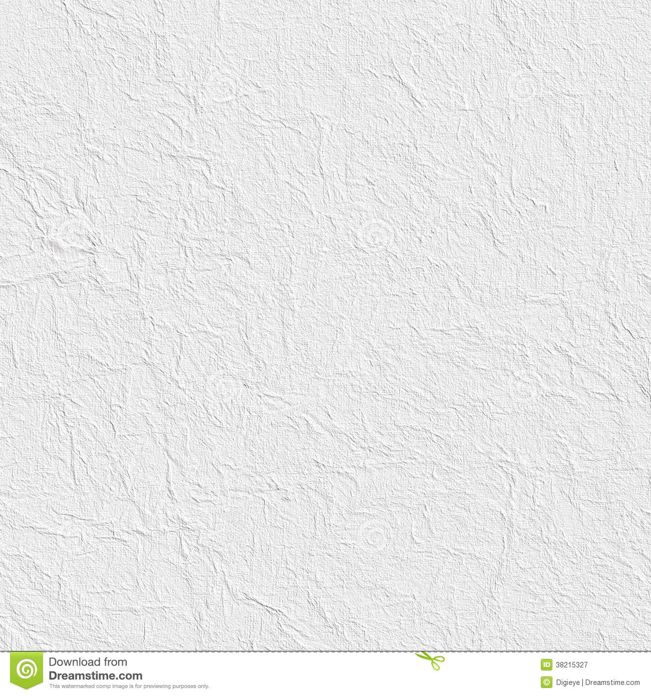 Crumpled paper sheet or plastered wall