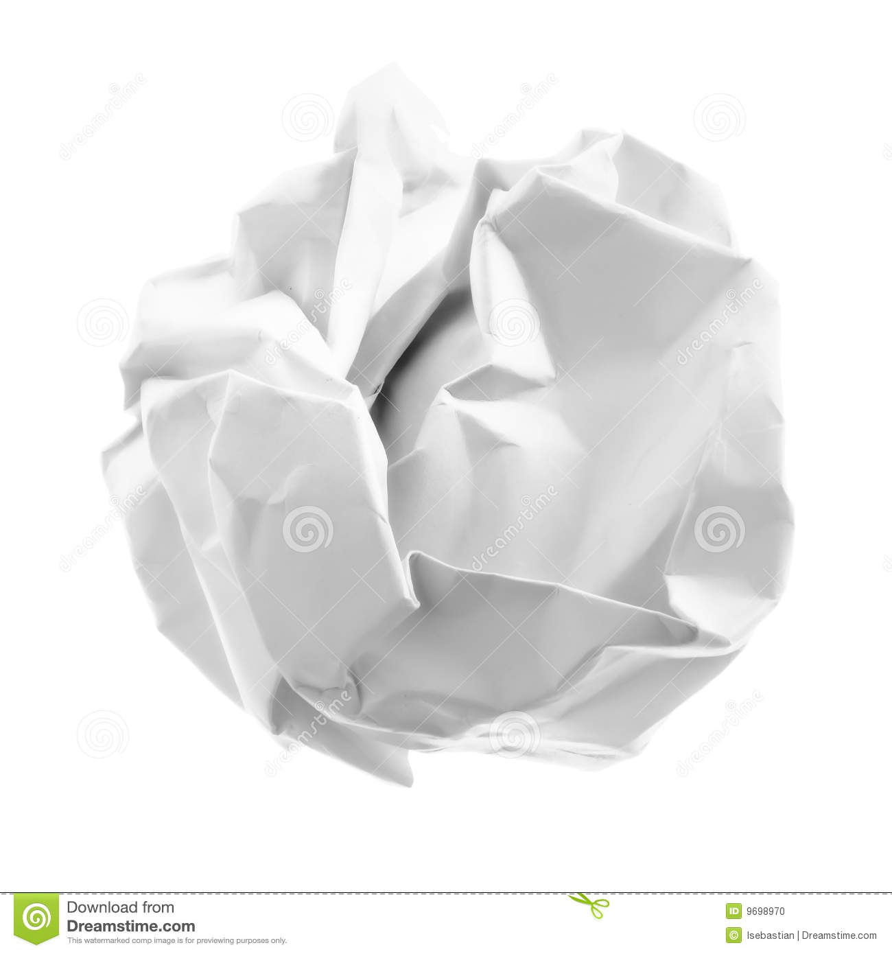 crumpled piece of paper stock photo. image of scrap, object - 9698970