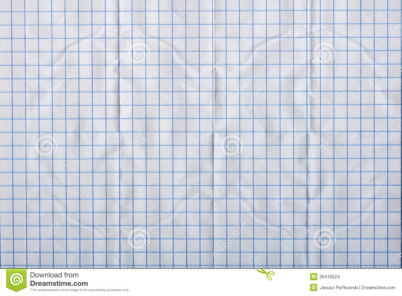 Crumpled blank math paper stock image. Image of study - 34664205