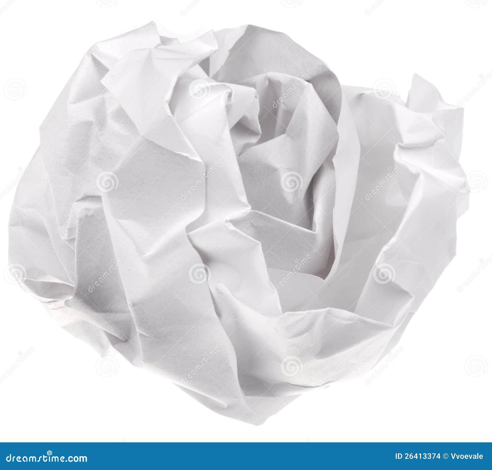 Crumpling A Sheet Of Paper Crumpled sheet of paper