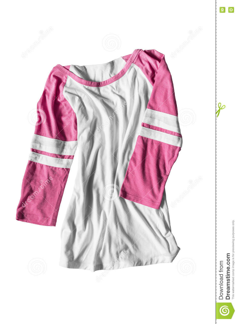a56810f8 Crumpled sport shirt with pink sleeves on white background. More similar  stock images