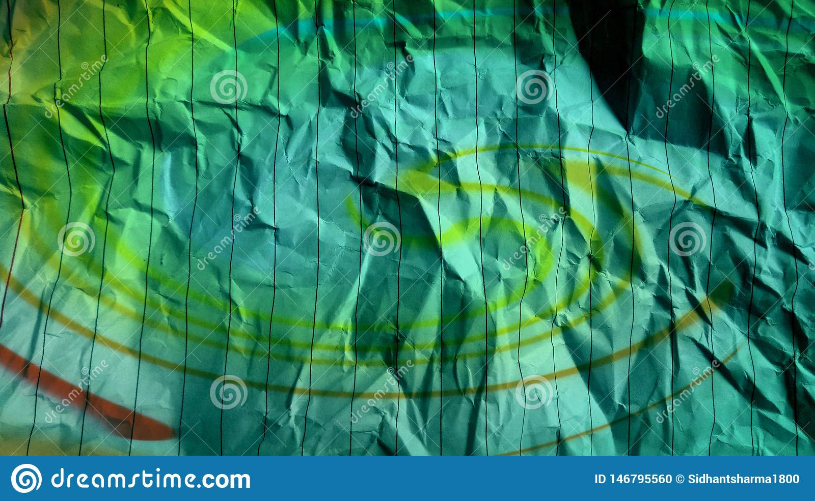 Crumpled stripes lines paper sky blue effects multi colors effects  Background.