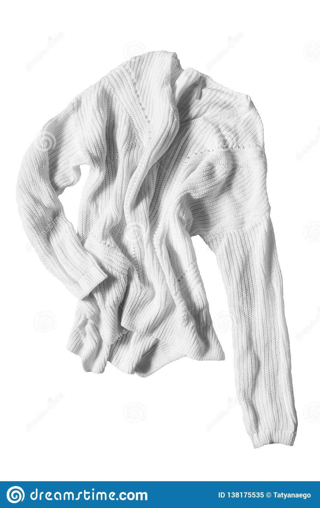 1a14a67e0 Crumpled sweater isolated stock image. Image of clothing - 138175535