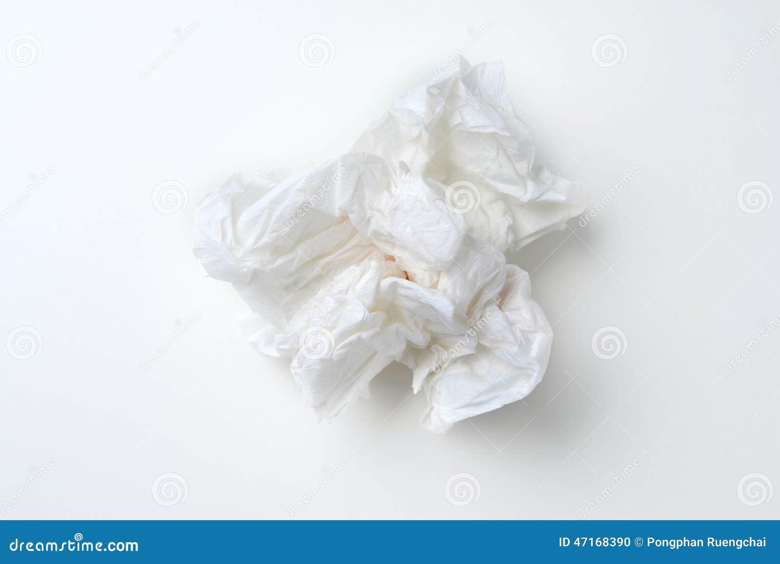 Crumpled Tissue Stock Photo Image 47168390