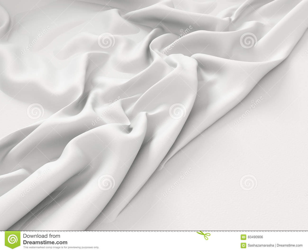 Crumpled white fabric cloth texture background