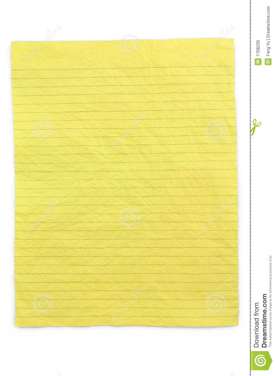 Crumpled Yellow Lined Paper Royalty Free Stock Images ...