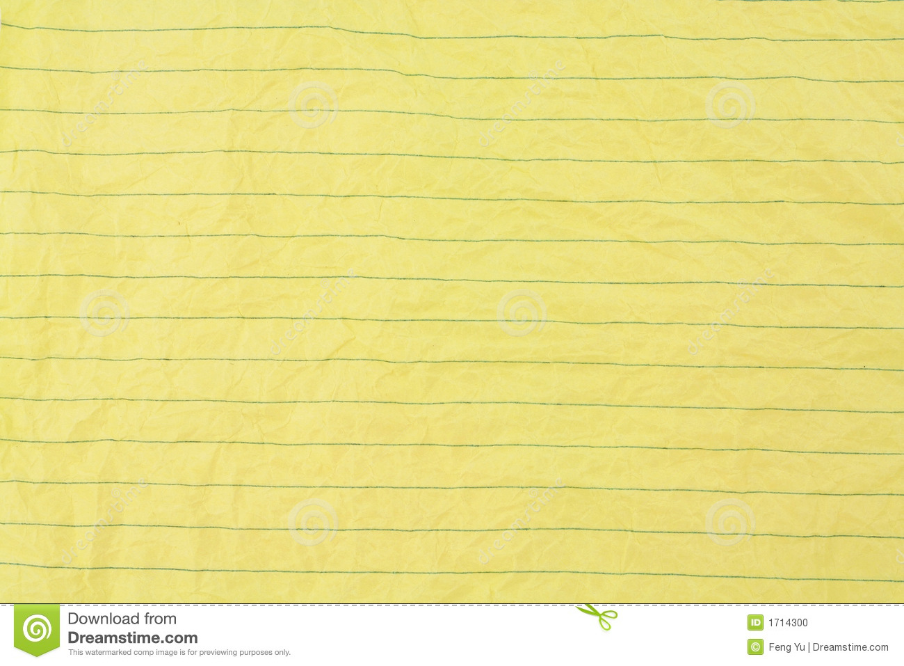 Crumpled Yellow Lined Paper Stock Photo - Image: 1714300
