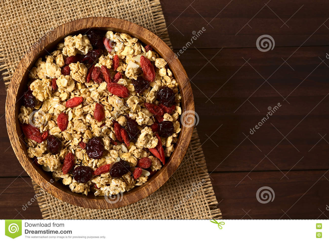 Crunchy Cereal with Dried Berries