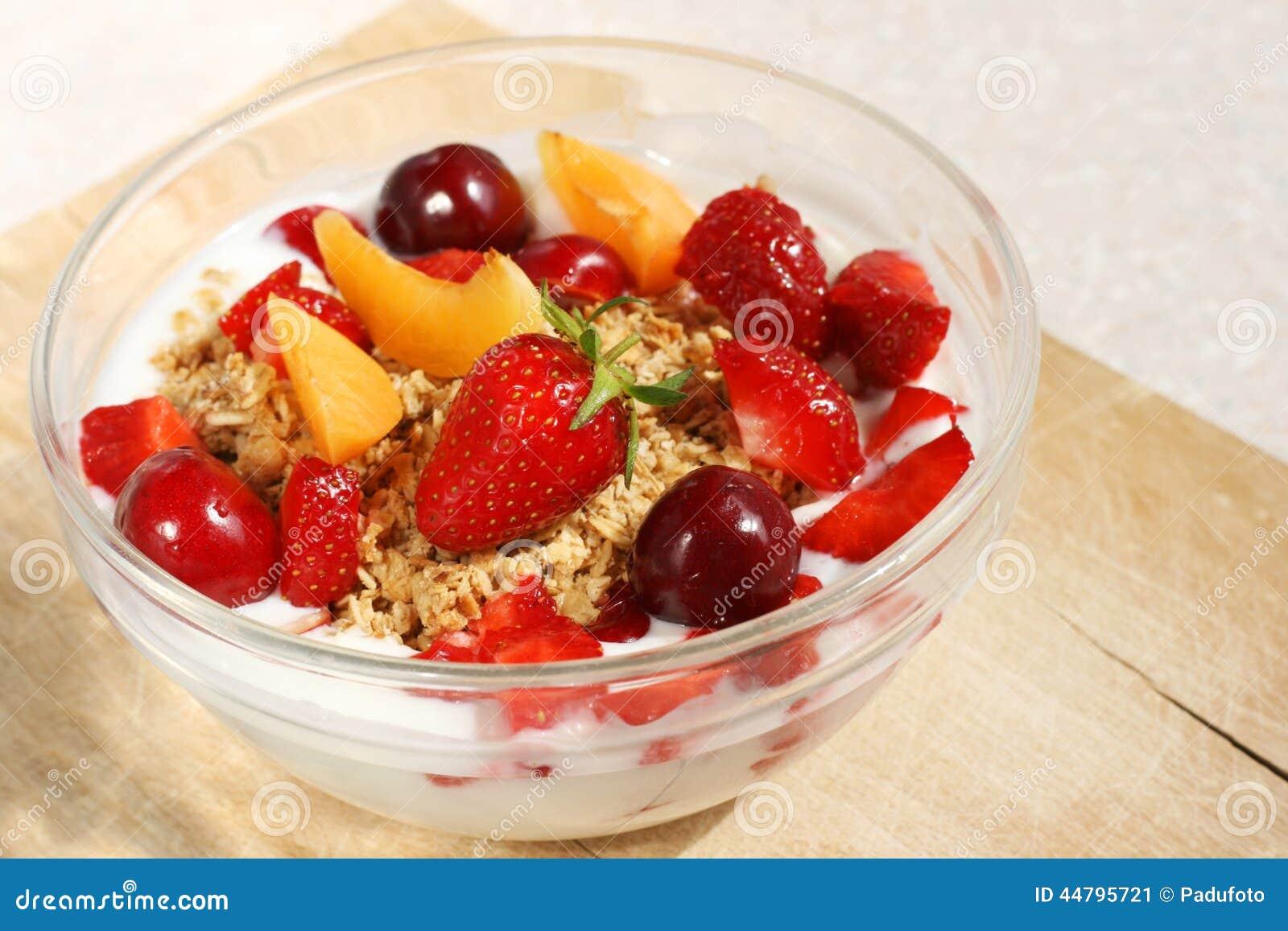 Crunchy Fruit Muesli (whole Grain Oats) Stock Photo ...