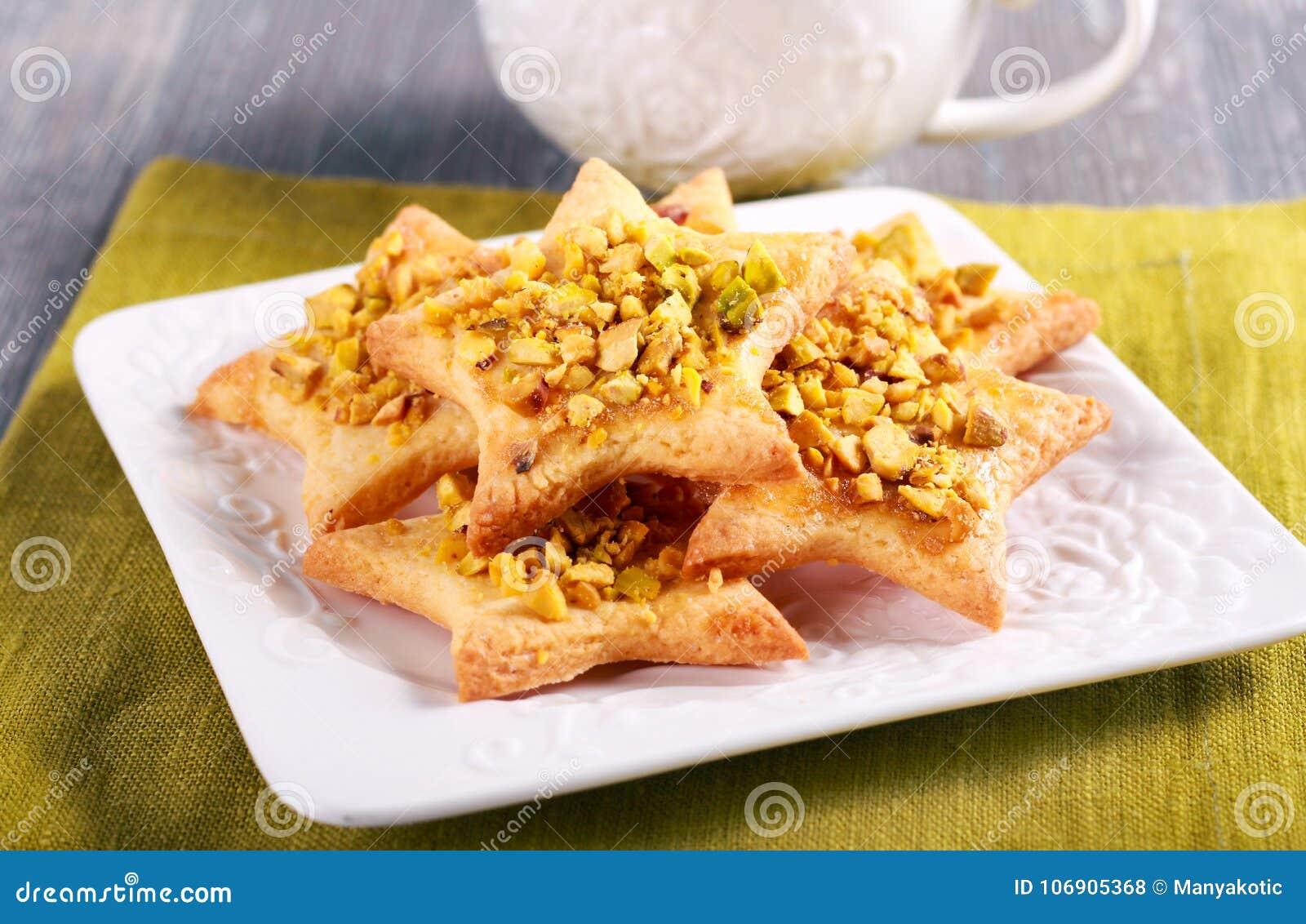 Crunchy pistacjowa dokrętka gra główna rolę ciastka