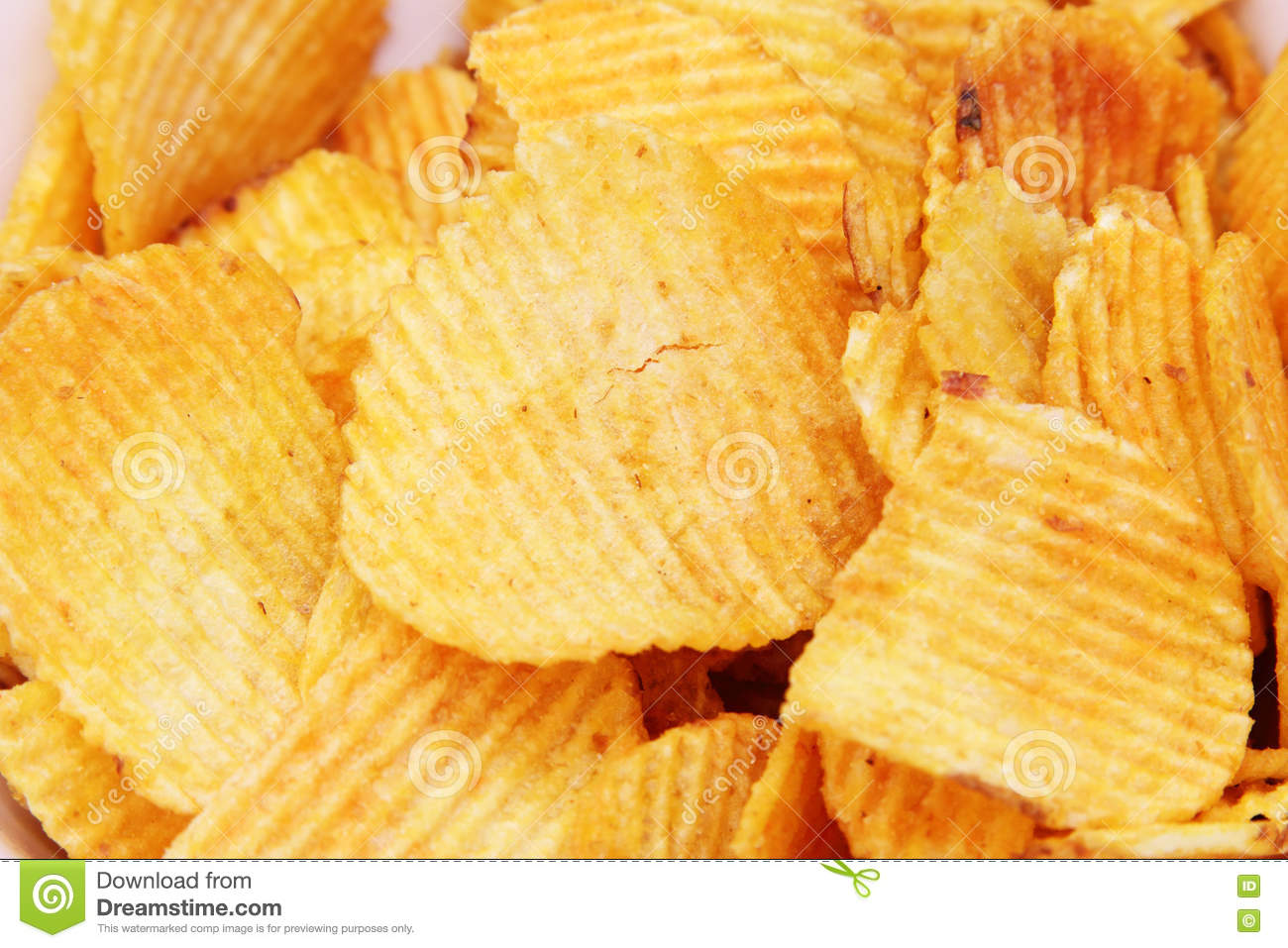 Covered Crunchy Potato Chips