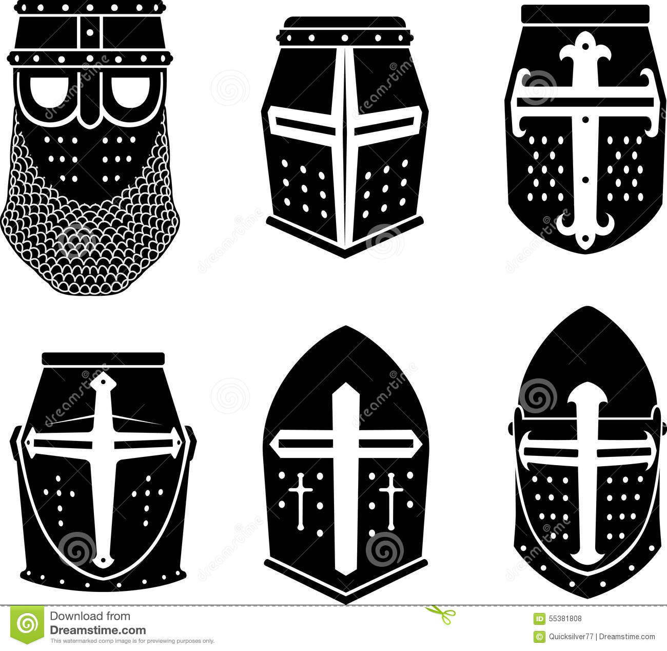 Crusader warrior great helm stock vector image 55381808 for Helm design