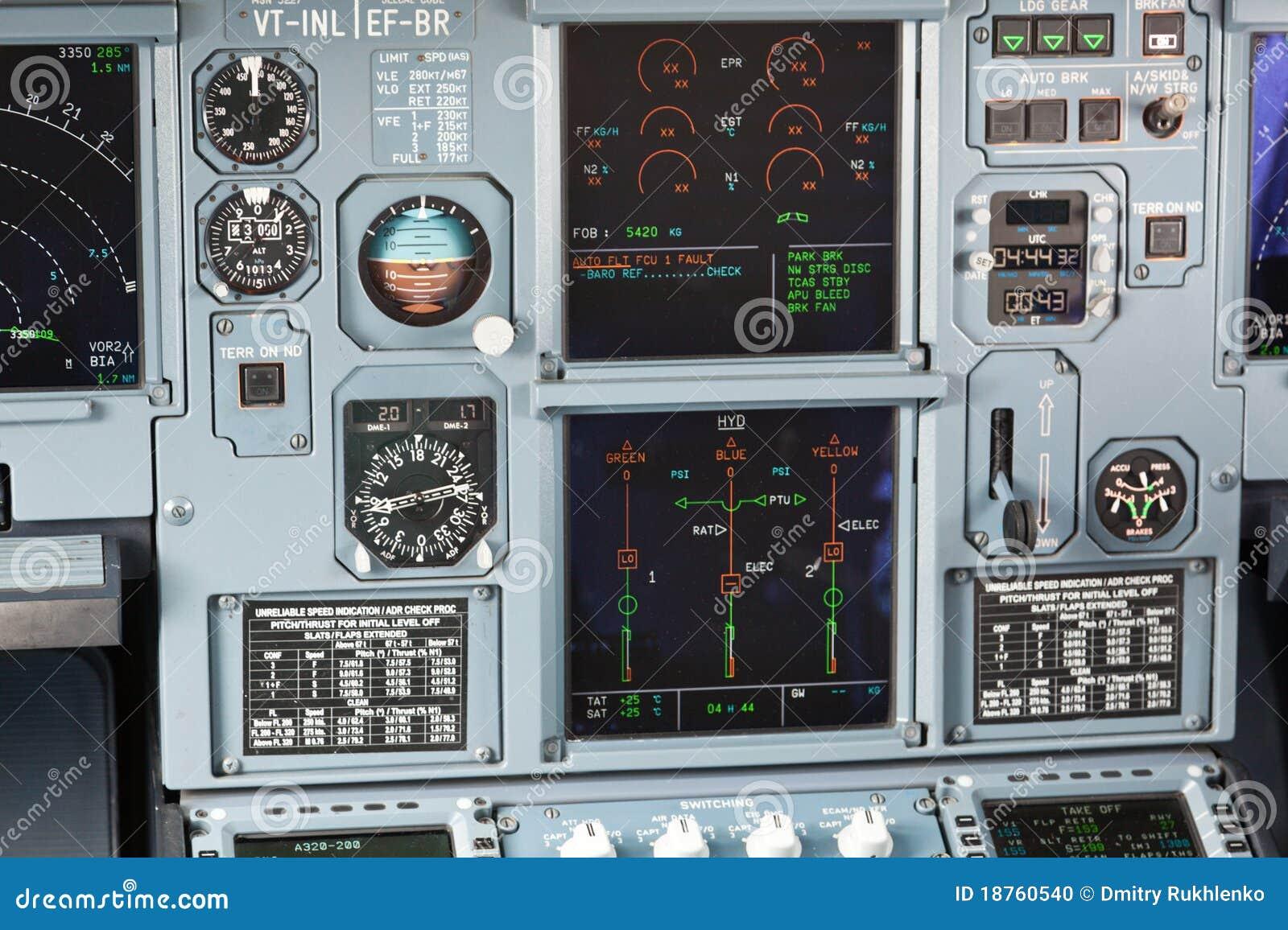 Cruscotto della cabina di guida di velivoli fotografia for Affitti della cabina di whistler
