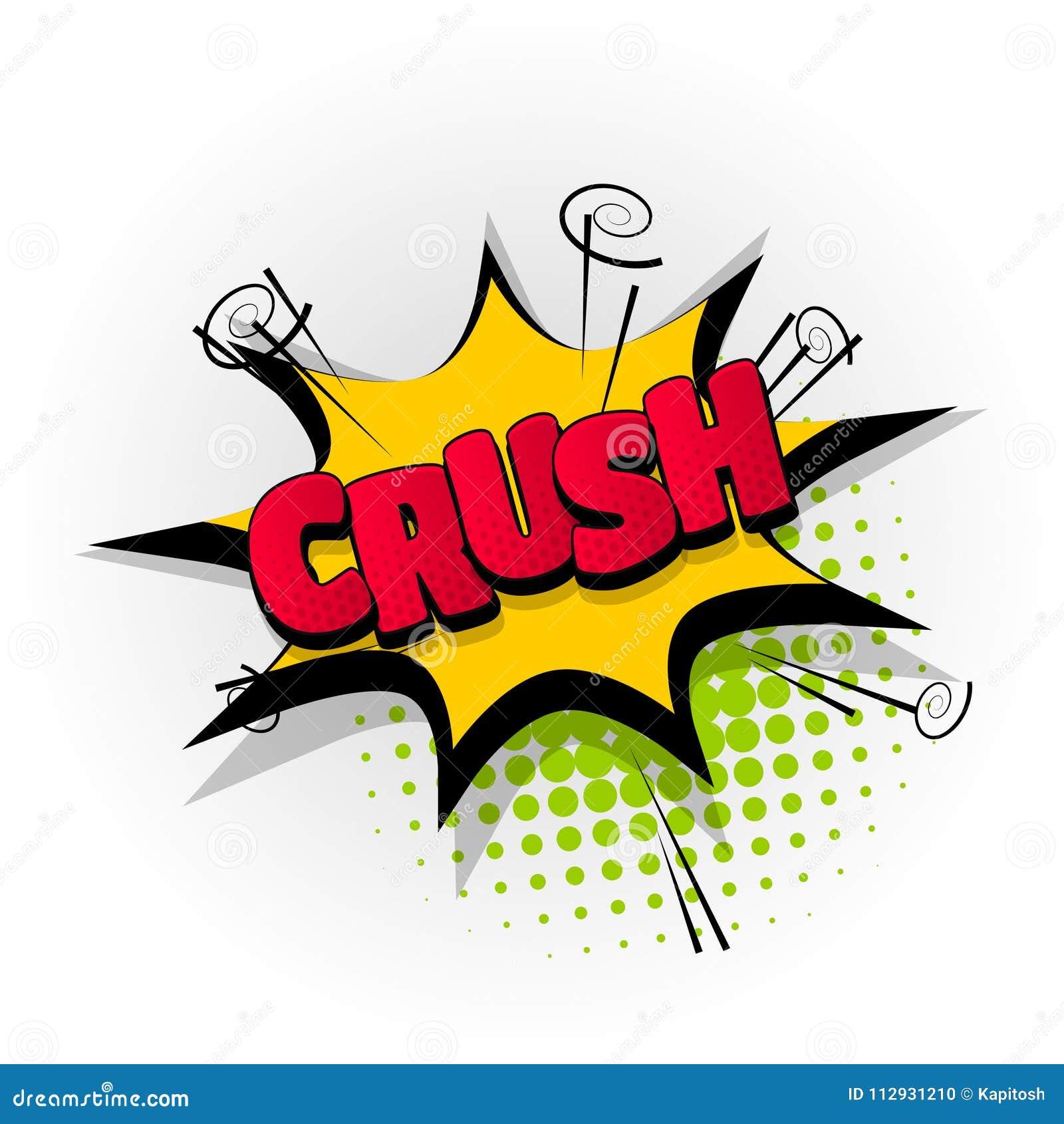 Crush crash comic book text pop art