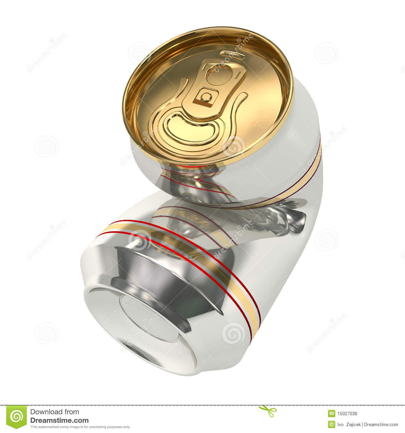 Crushed beer can 01 stock illustration. Image of ...  Crushed Beer Can