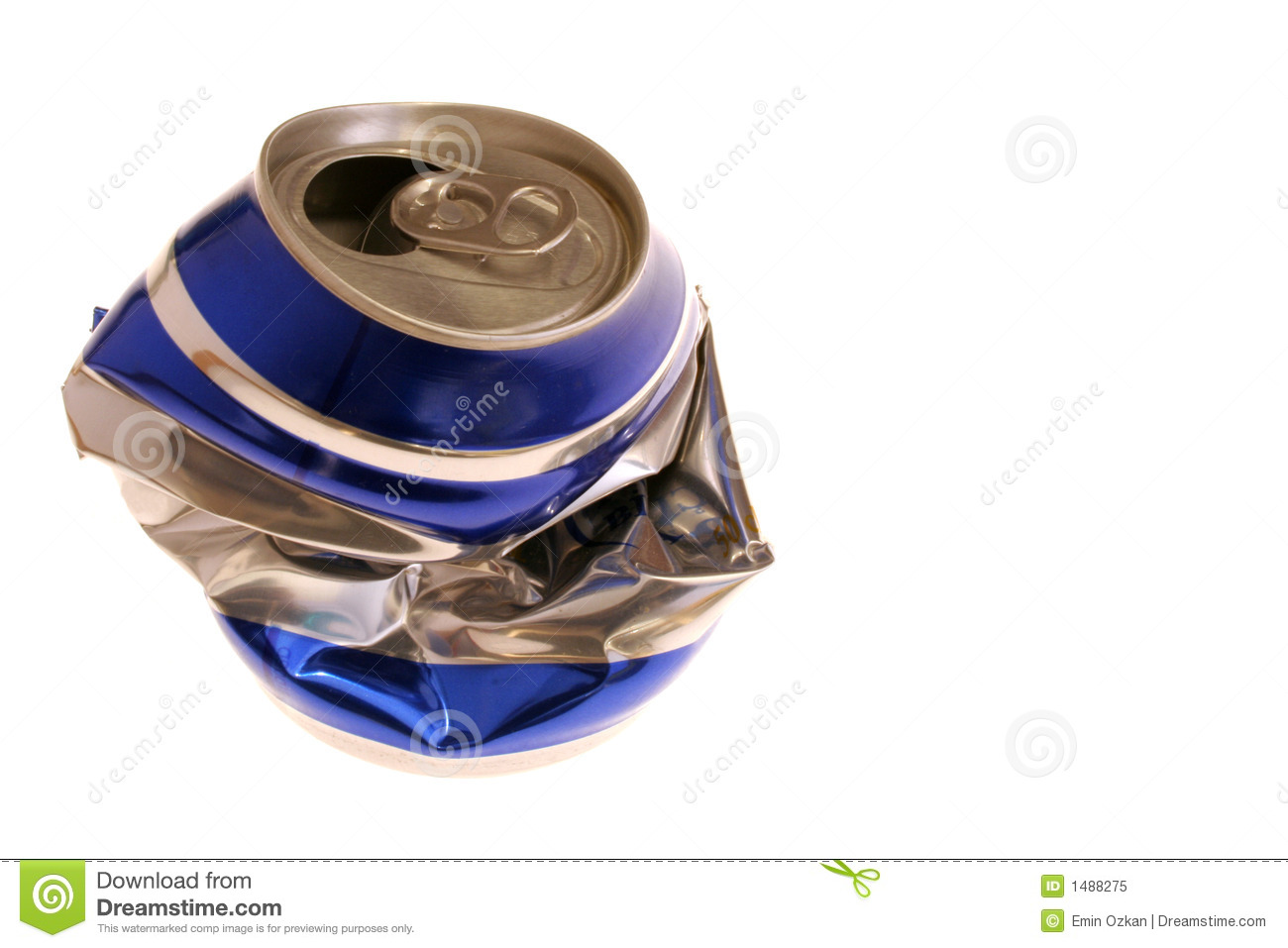 Crushed beer can stock image. Image of recyclable, crushed ...  Crushed Beer Can
