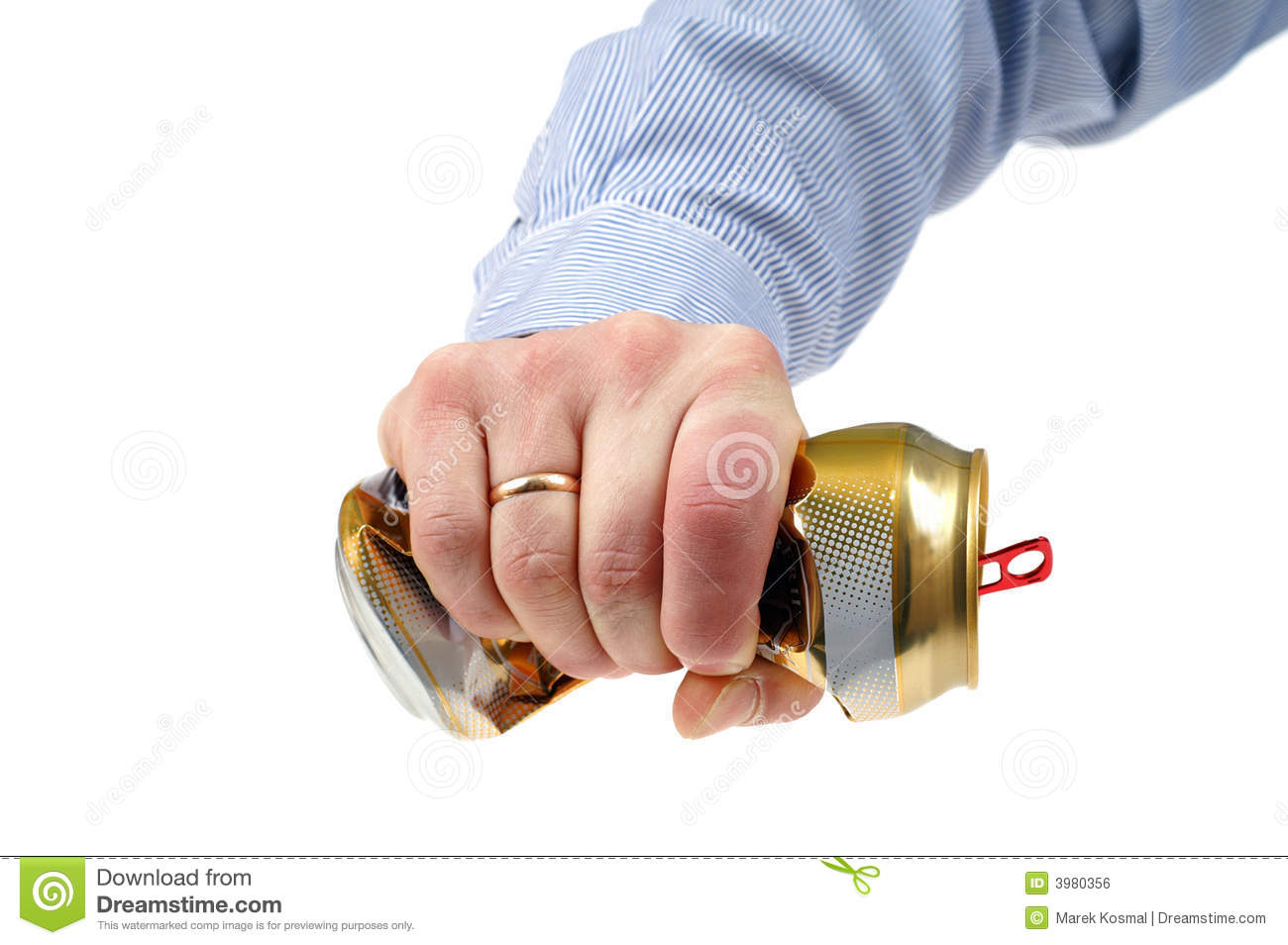 Crushed Beer-can Royalty Free Stock Image - Image: 3980356  Crushed Beer Can