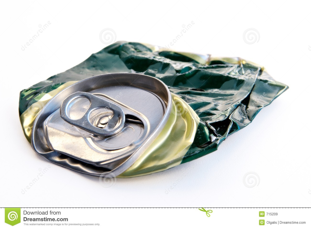 Crushed Beer Can Royalty Free Stock Images - Image: 715209