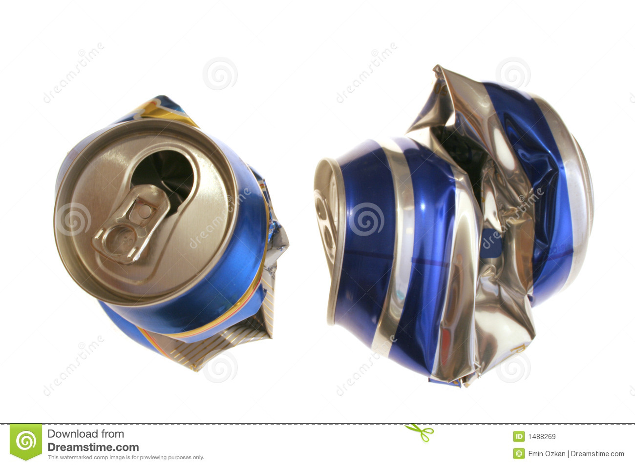 Crushed cans stock image. Image of beer, habit, drinking ...  Crushed Beer Can