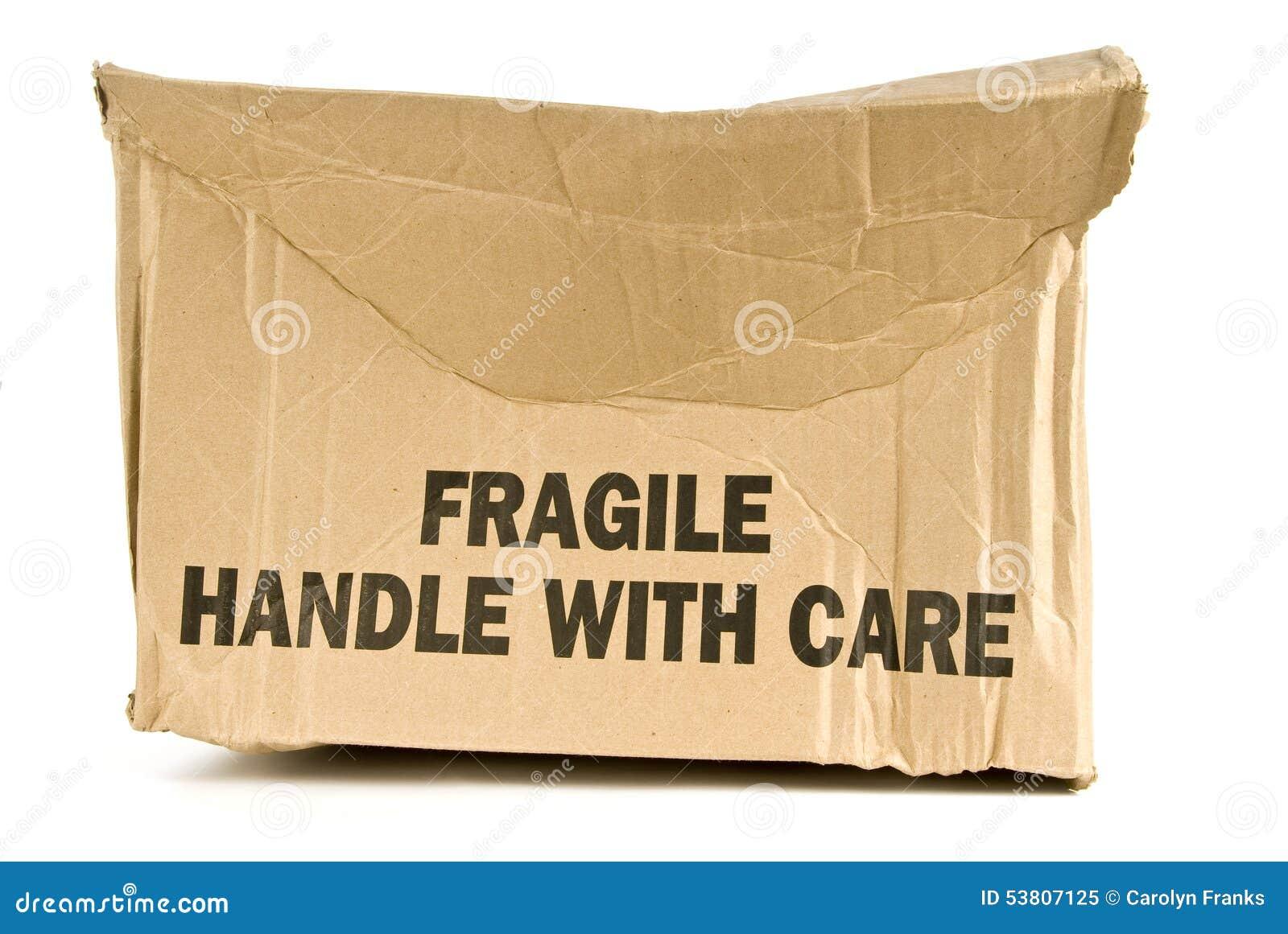Crushed Fragile Box