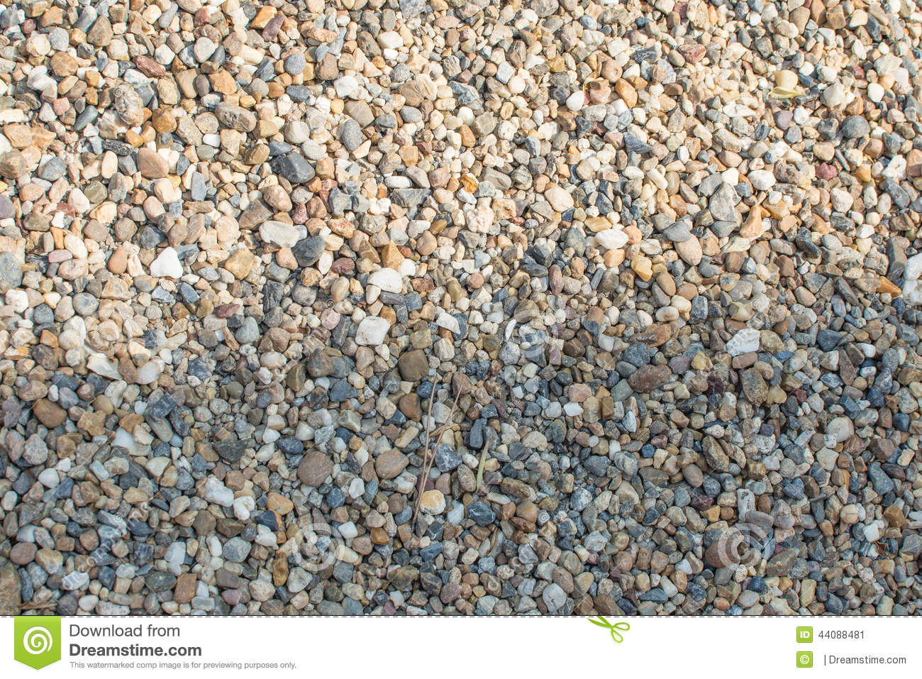 Crushed Granite Gravel : Crushed granite and pebble gravel texture stock image