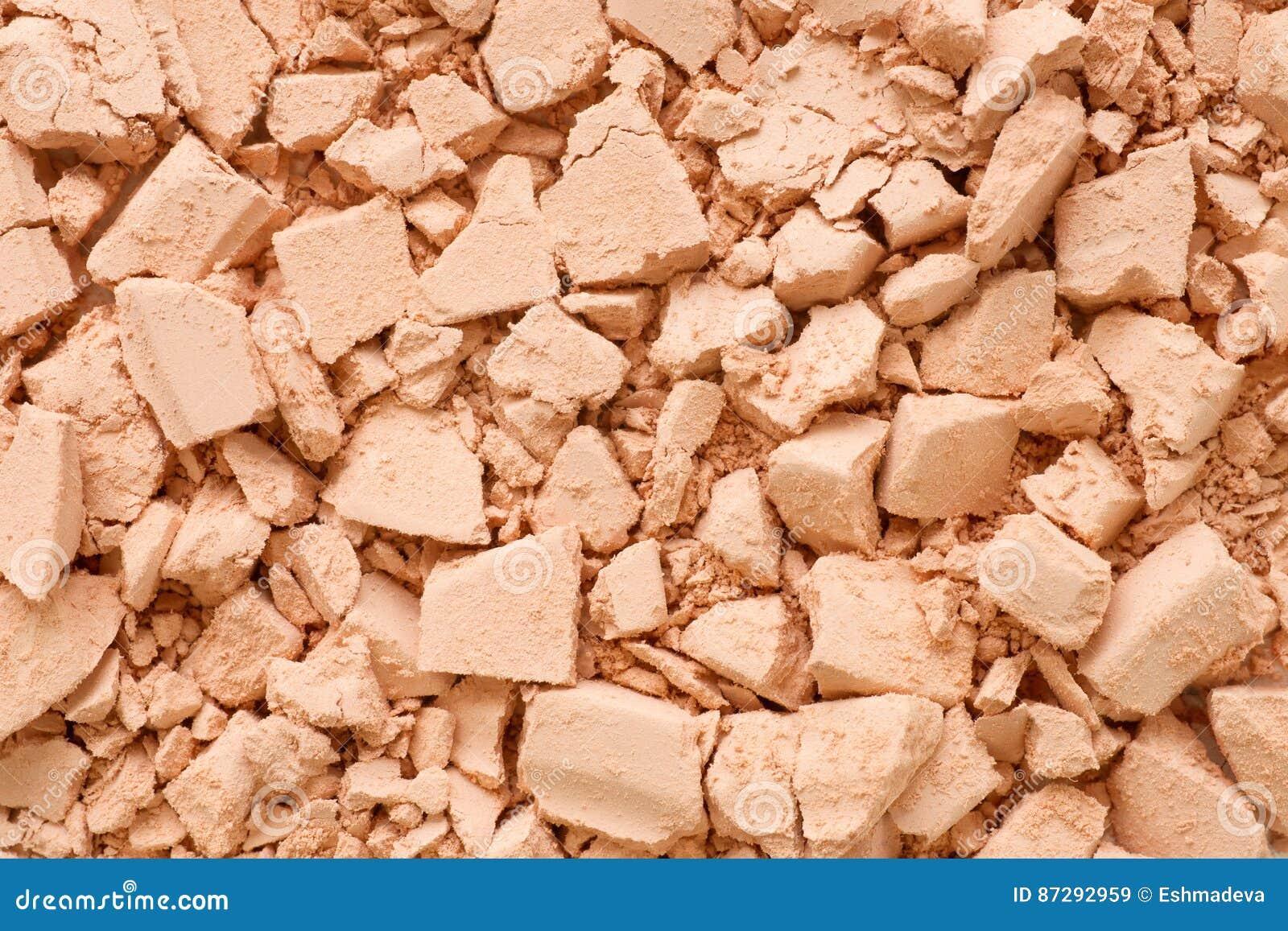 Crushed powder extremal close up