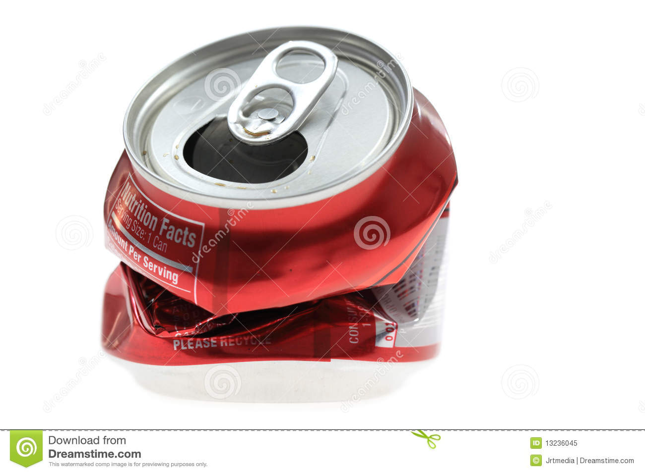 Crushed Soda Can Royalty Free Stock Photo - Image: 13236045