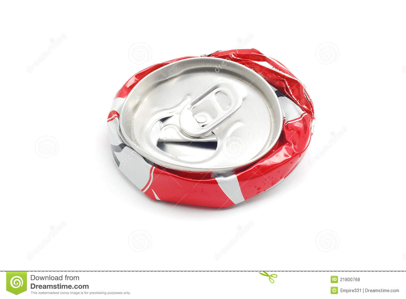 Crushed Soda Can Royalty Free Stock Photos - Image: 21800768