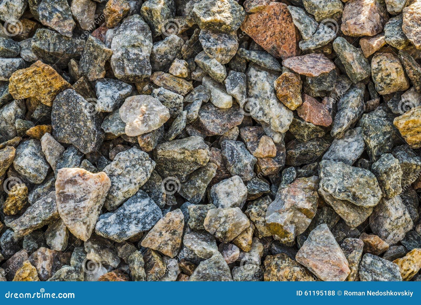 Clean Granite Stone : Crushed stone stock photo image