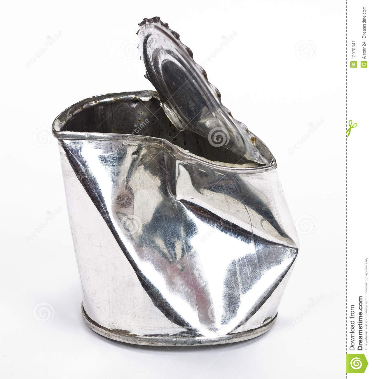 Crushed Tin Can Stock Image Image Of Open Preservation