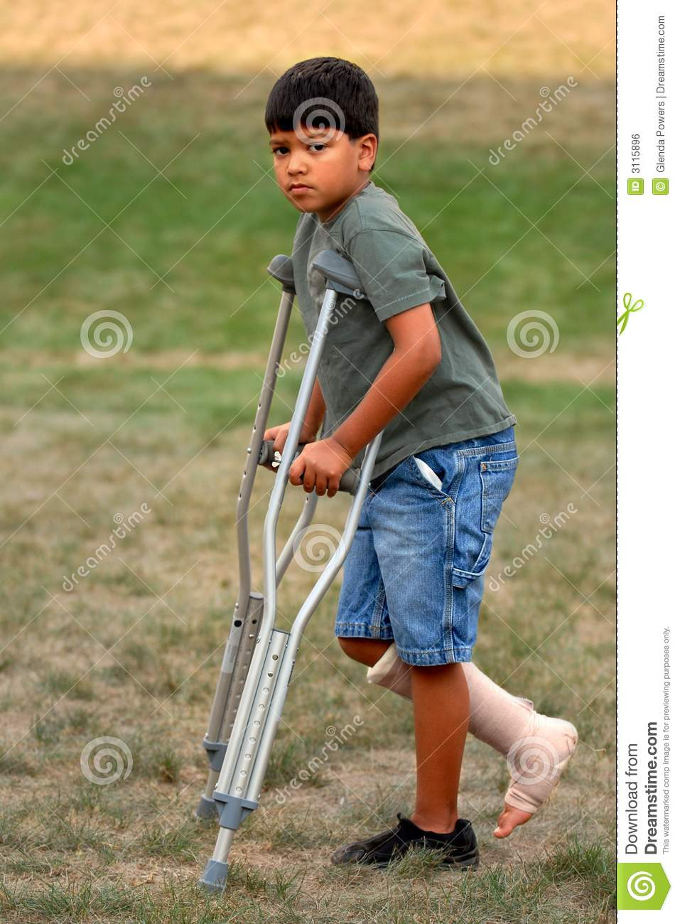 crutches are not fun royalty free stock image image
