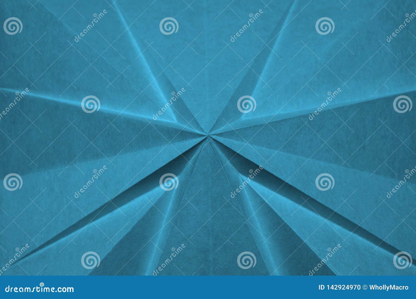 Cruz abstrata do origâmi azul