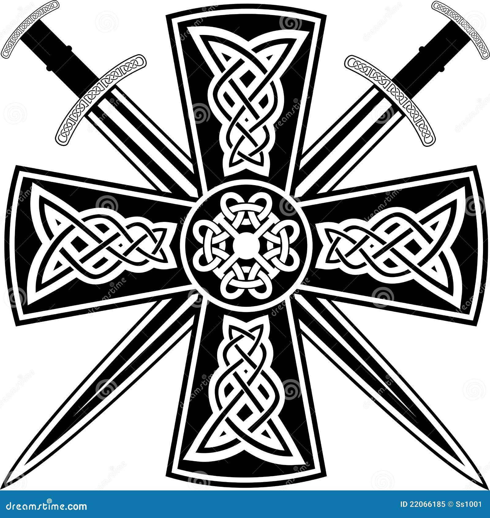 Cruz celta e espadas foto de stock royalty free imagem for Crossed swords tattoo