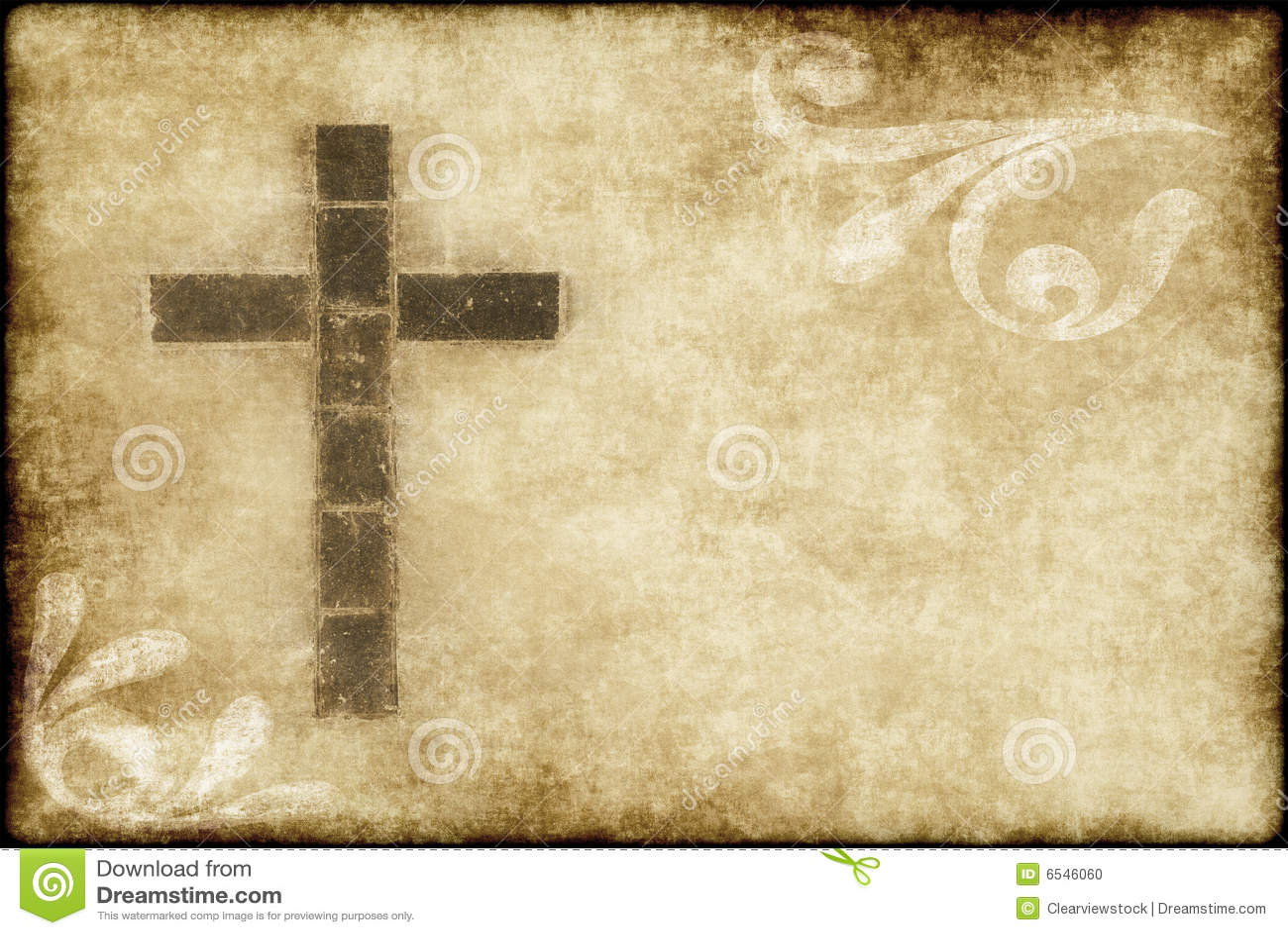 Cruz cristã no pergaminho
