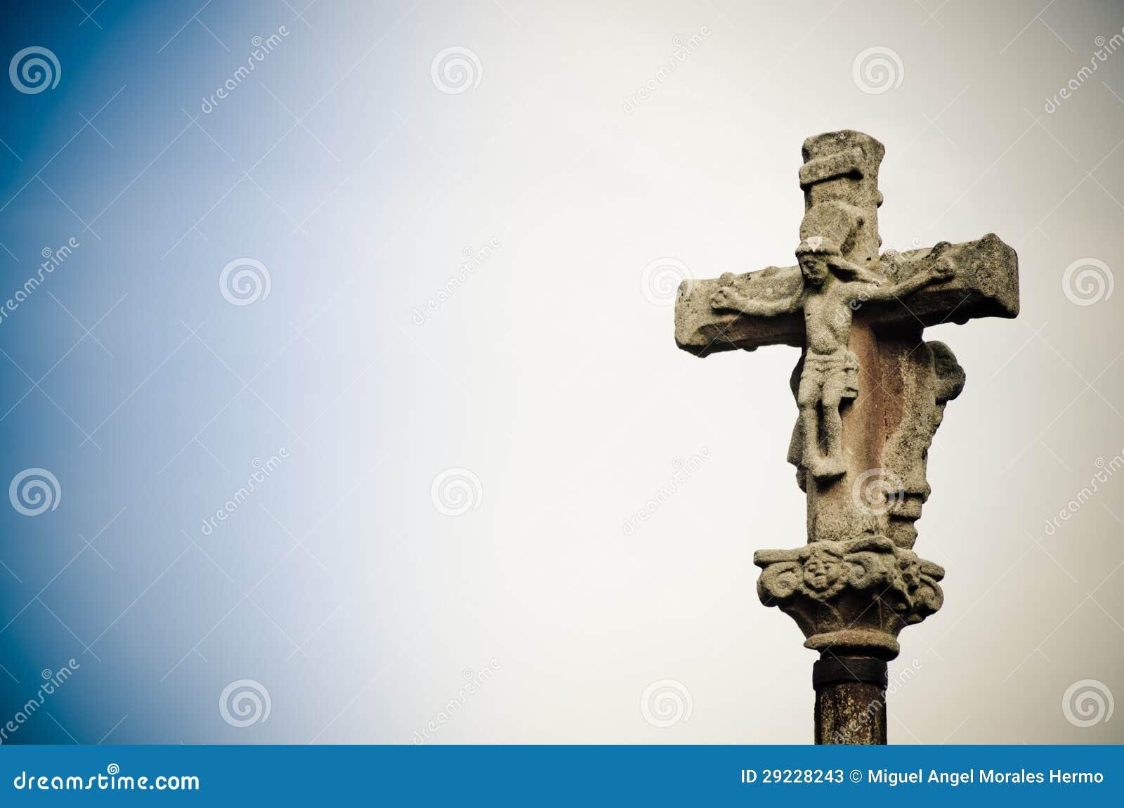 Download Cruz de pedra imagem de stock. Imagem de sculpture, cityscape - 29228243