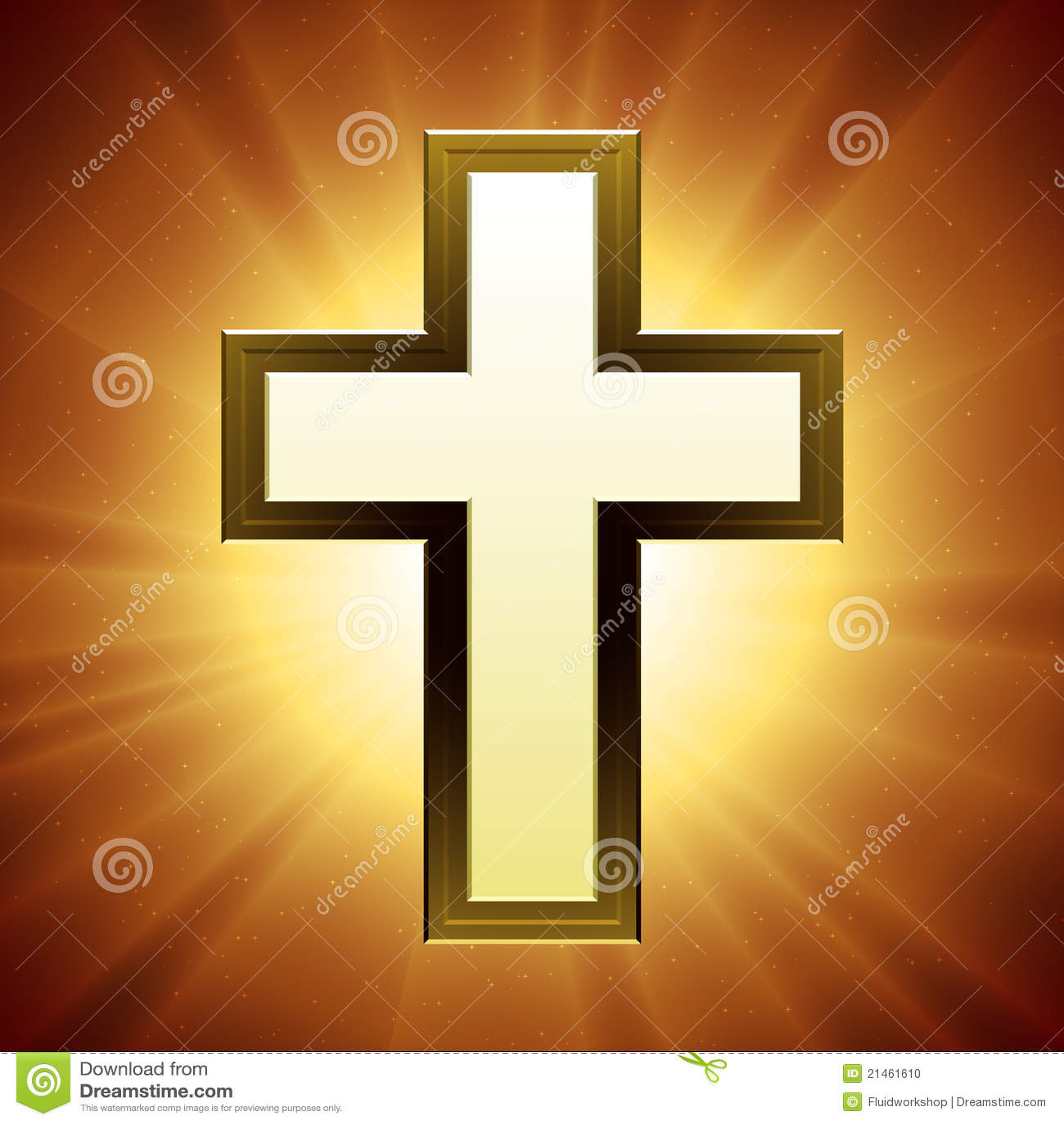 Cruz del cristiano del vector