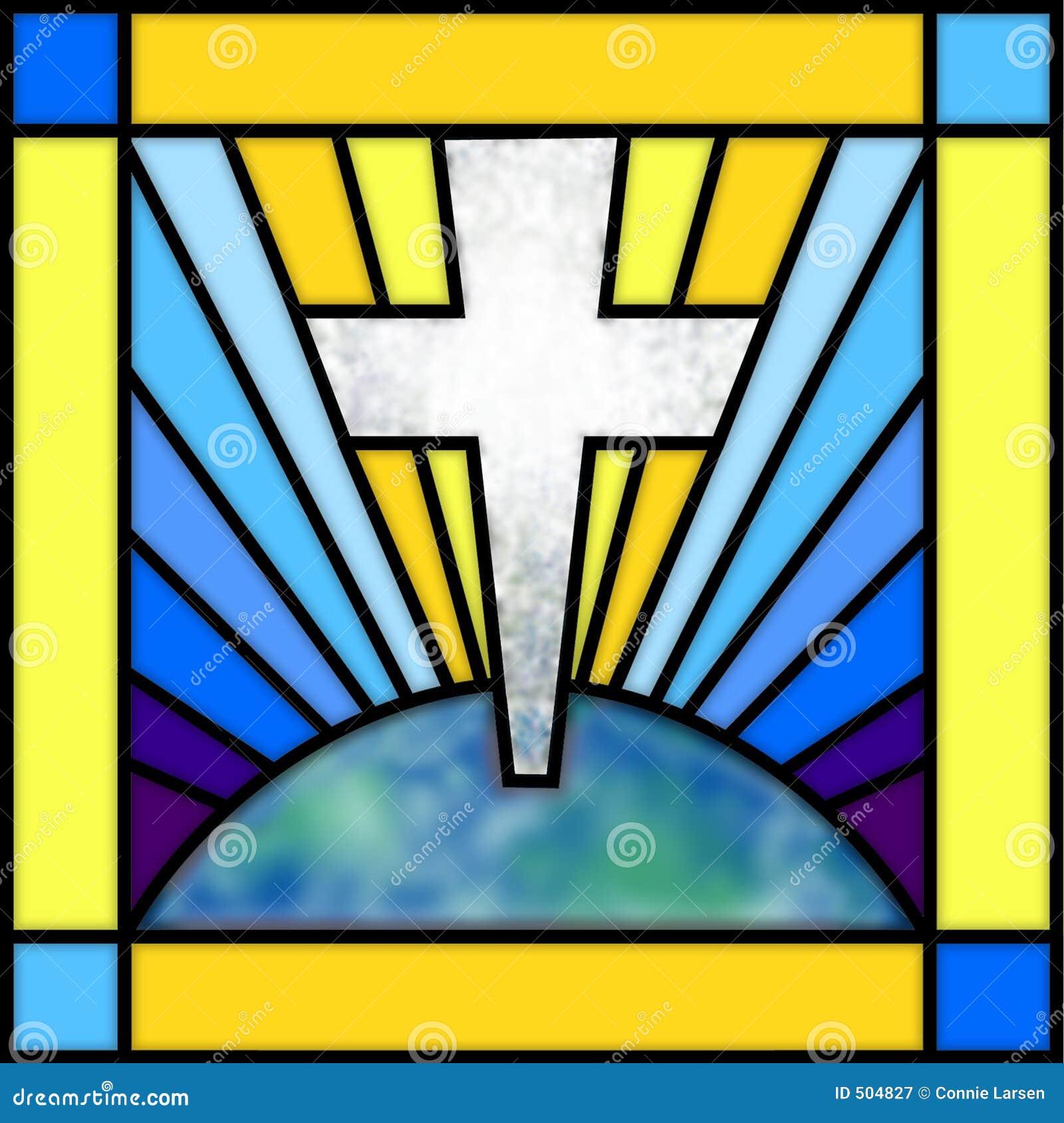 Cruz del vidrio manchado