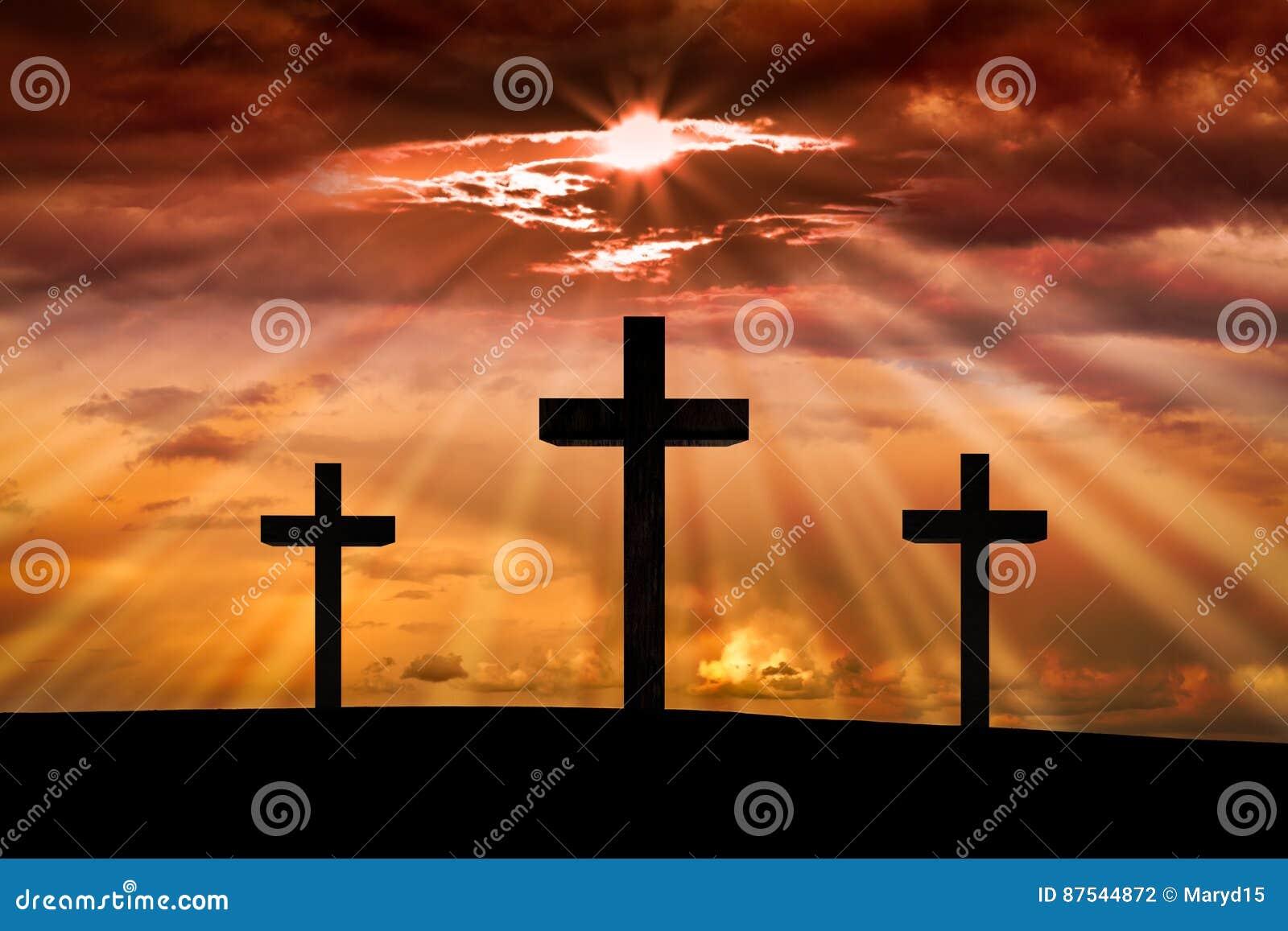 Cruz do Jesus Cristo Páscoa, conceito do Sexta-feira Santa