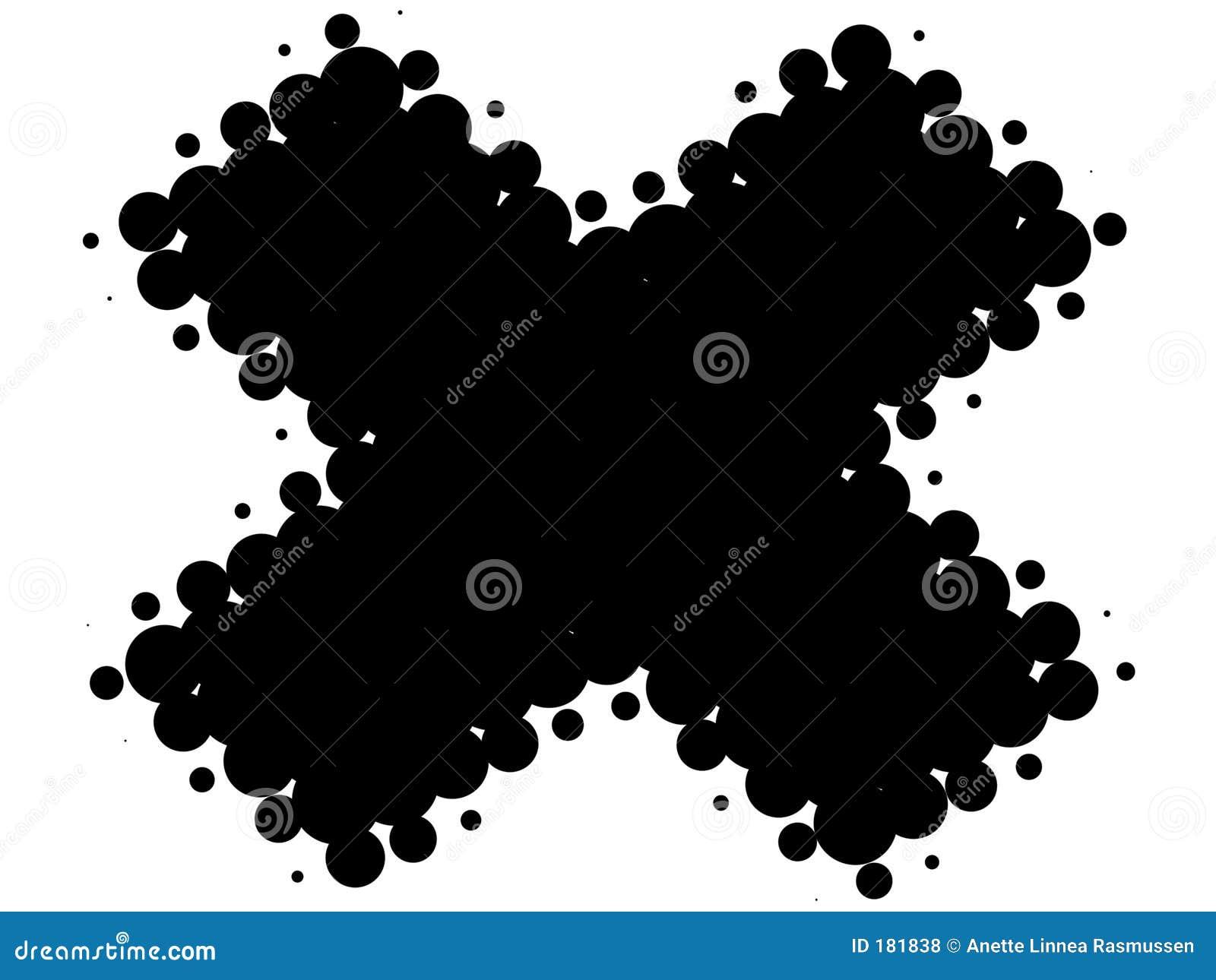 Cruz retra blanco y negro