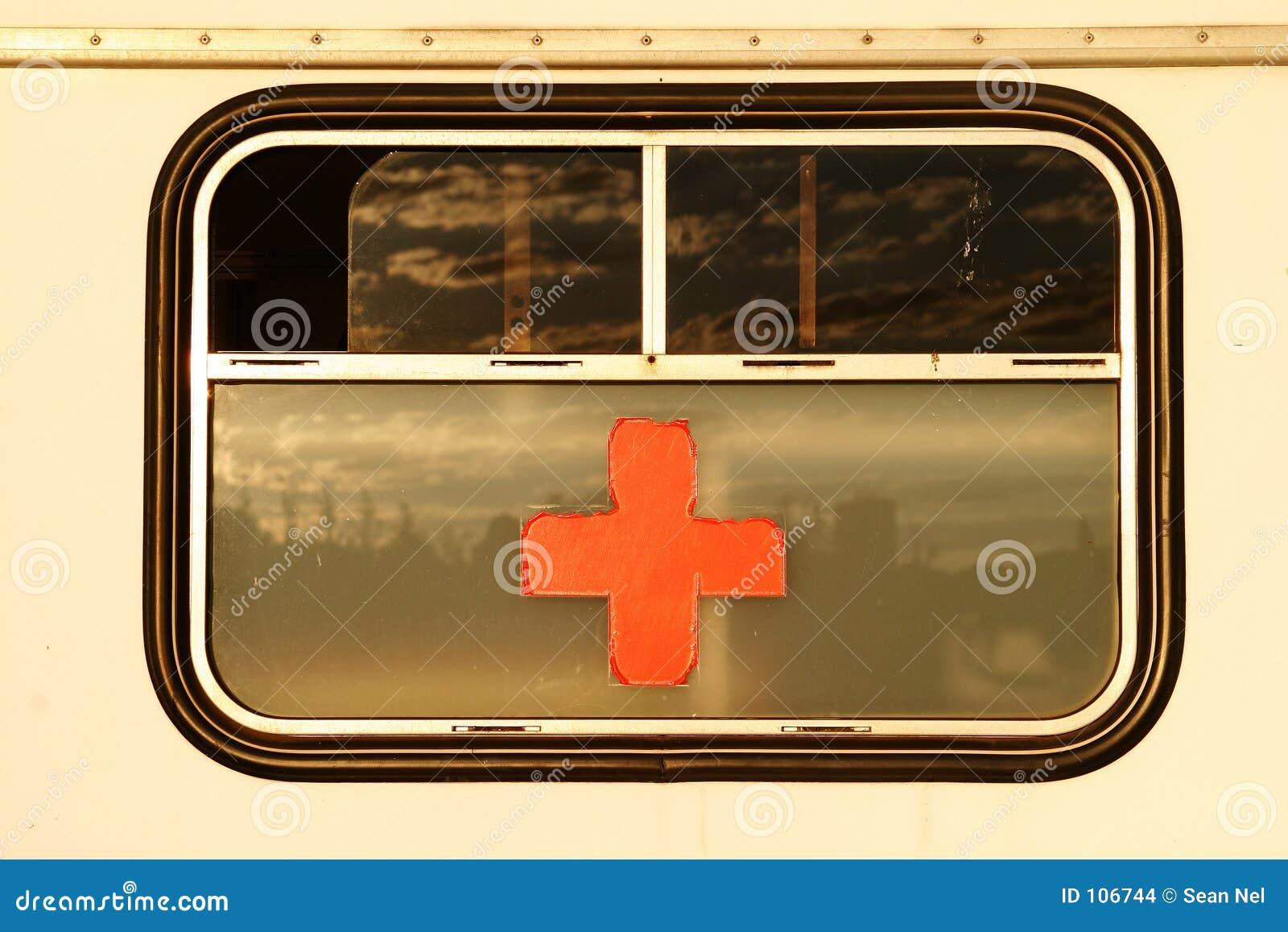 Cruz vermelha no indicador