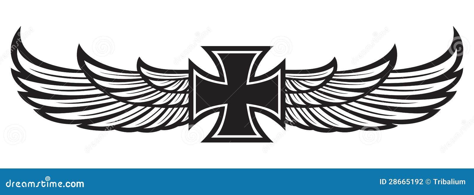 Cruz Y Alas Ilustración Del Vector Ilustración De Jesús 28665192