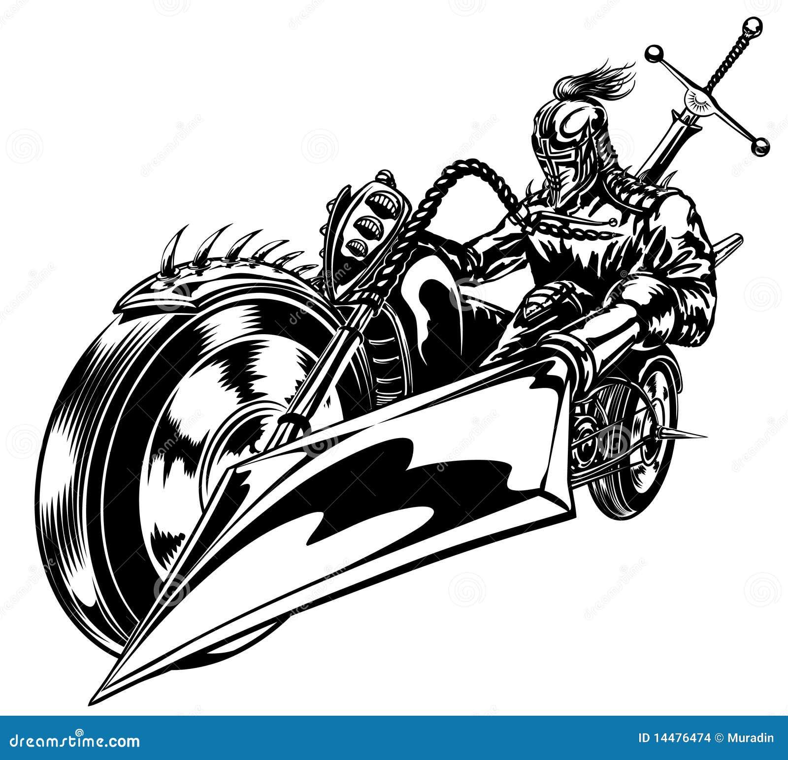 cruzado de la moto ilustraci u00f3n del vector  ilustraci u00f3n de